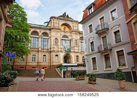 People At Friedrichsbad Spa In Baden Baden Germany