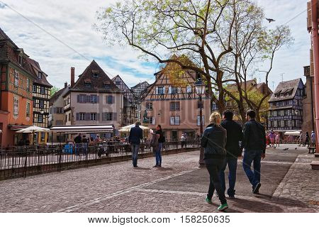 Place De Ancienne Douane Square In Colmar In Alsace France