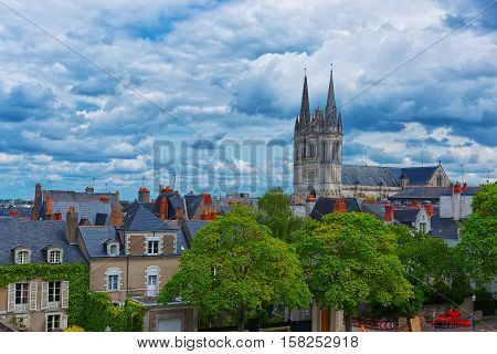 Saint Maurice Cathedral Of Angers In Loire Valley France