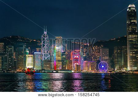 Skyline On The Victoria Harbor In Hk