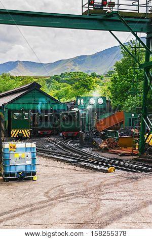 Snowdon Mountain Railway Train Snowdonia