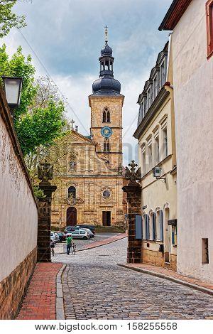 St Jakob Church In City Center Of Bamberg Germany