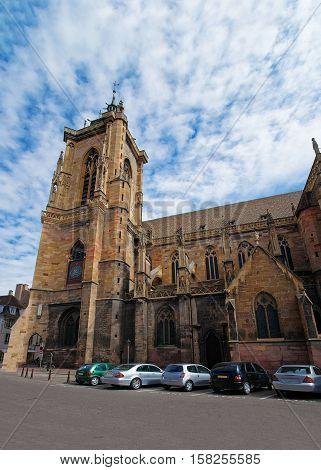 St Martin Church In Colmar Alsace In France