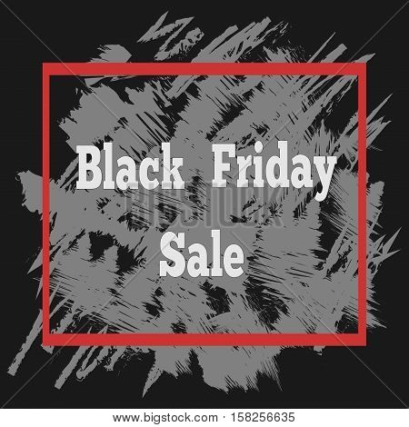 Black friday sale poster with a lettering abstract vector black friday sale layout background for art template design list page mockup brochure style
