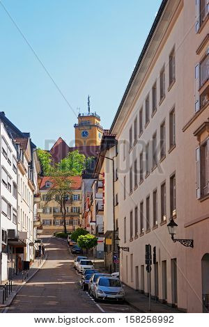 Street In The City Center Of Baden Baden Germany