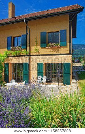 Swiss House At Yverdon At Jura Nord Vaudois Vaud Switzerland