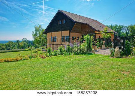 Swiss House In Yverdon At Jura Nord Vaudois Vaud Switzerland