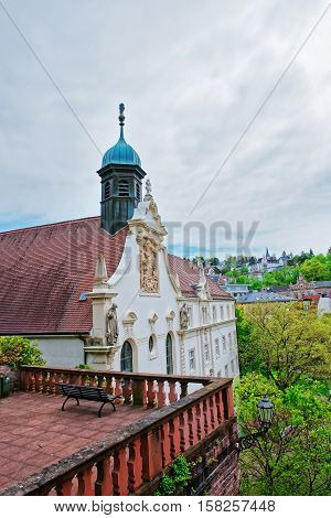Terrace View On Convent School Of Holy Grave In Baden