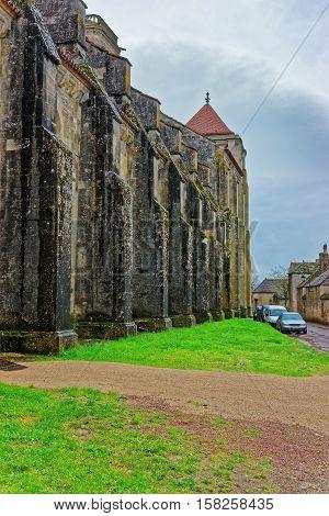 Vezelay Abbey At Bourgogne Franche Comte Region In France