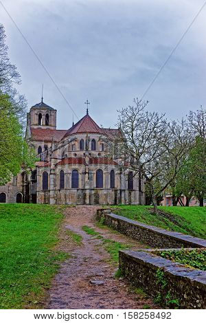 Vezelay Abbey In Bourgogne Franche Comte Region Of France