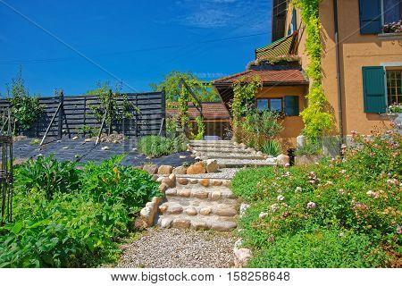 Village House At Yverdon In Jura Nord Vaudois Vaud Switzerland