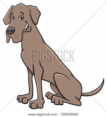 Great Dane Dog Cartoon