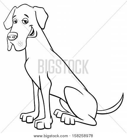 Grea Dane Dog Cartoon