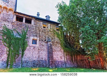 Visconteo Castle In City Center In Locarno In Ticino Switzerland