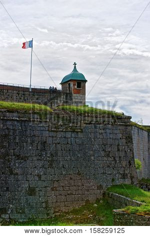 Walls In Citadel At Besancon In Bourgogne Franche Comte France