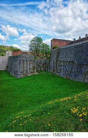 Walls Of Citadel In Besancon In Bourgogne Franche Comte France