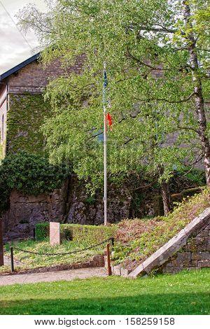 Walls Of Citadel In Besancon At Bourgogne Franche Comte France