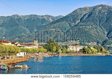 Waterfront Of Ascona In Ticino In Switzerland