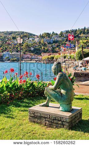 Woman Sculpture At Promenade Of Ascona In Ticino In Switzerland