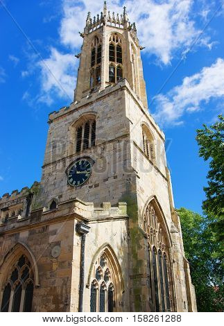 York Minster in York in England. It is also called Cathedral and Metropolitical Church of Saint Peter in York.