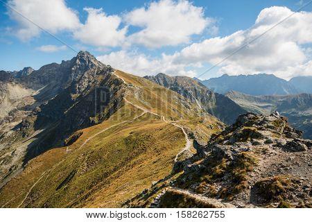 Tatry. Poland and Slovakia boundary autumn landskapes