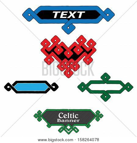 vector set of banners in Celtic style