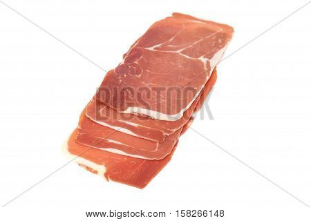Closeup On A Piece Of Spanish Serrano Ham