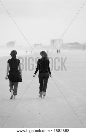 Foggy Beach Walk
