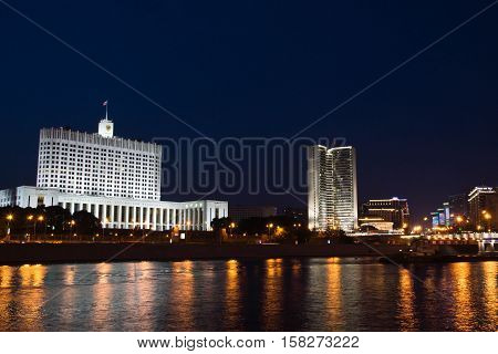 Russian Government House On River Bank