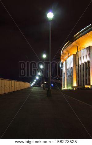 Stadium In The Evening In City