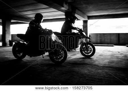 Two Motorcycle Stunt Race On Fast Bike