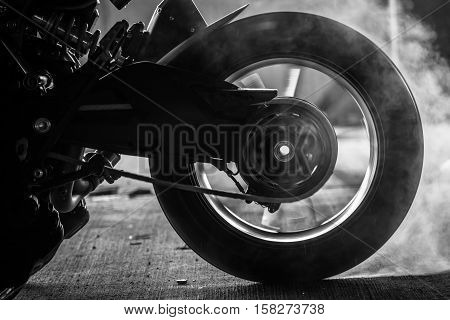 Stunt Rider Ride And Burn Wheel Tire