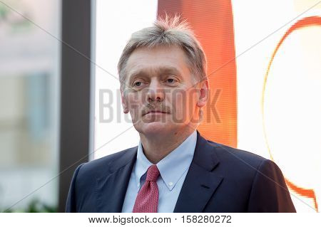 Russia, Moscow - November 22, 2016:  Peskov Dmitry . Deputy Head of the Presidential Administration - the press secretary of the President of the Russian Federation