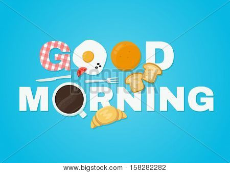 good morning concept. vector flat isolated illustration