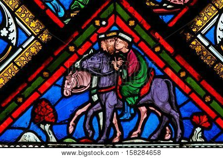 Stained Glass - Three Kings From The East