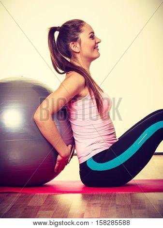 Girl With Training Equipment.