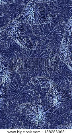 Abstract intricate texture - computer-generated image. Fractal geometry: curls and curles woven into a complex ornament. Asymmetric pattern for covers, puzzles, web design.