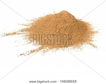 Amalaki emblica officinalis superfood powder pile isolated on white