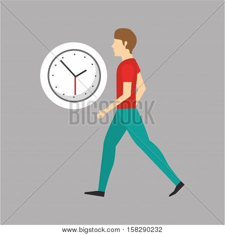 character bubble speech with clock time vector illustration eps 10