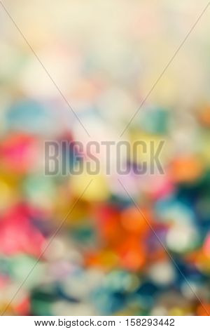 Abstract colorful blurry background warm colors tone sunny summer day cinematic effect copy space for text toned with filters