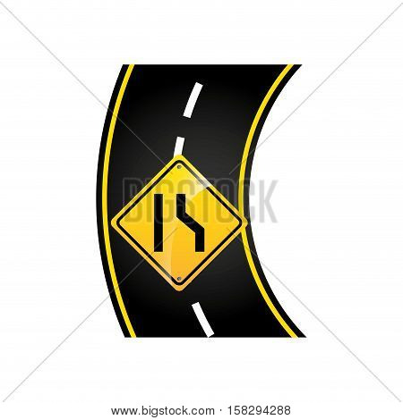 narrows road sign concept graphic vector illustration eps 10
