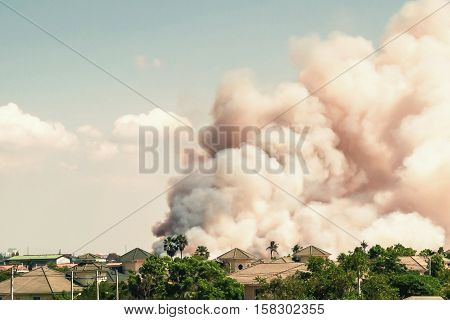 Smoke from fires cause of air pollution