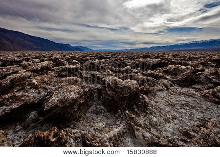 Devil's Golf Course in the Badwater Basin.