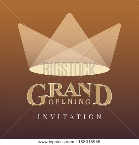 Grand opening vector illustration, banner, background for store, shop, club opening ceremony, event or grand sale