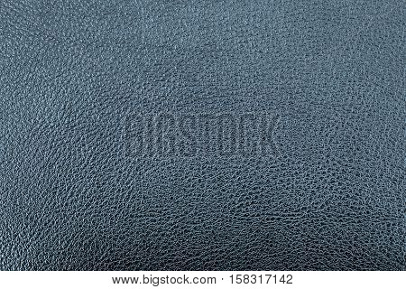 Deep blue leather texture or leather background. Leather sheet for making leather bag leather jacket furniture and other. Abstract leather pattern for design with copy space for text or image.