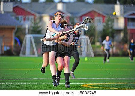 Girls Lacrosse shooting space violation