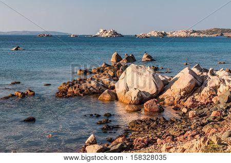 The wild coast of the La Maddalena Island Italy