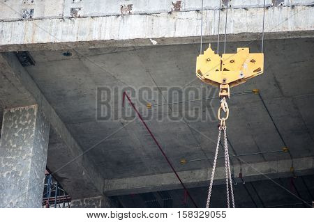 Hoists In Construction Place .