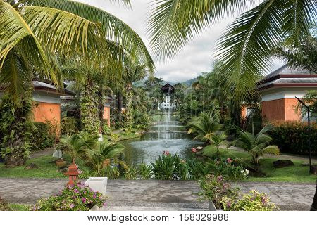 Khao Lak Thailand - september 14 2016: Beyond Resort in Khaolak Thailand with elegant stand-alone villas in a beautiful tropic garden.