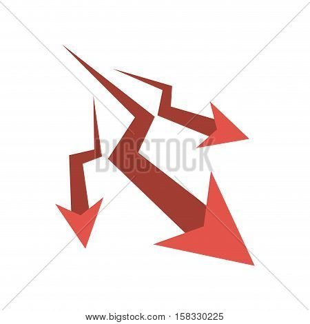 Decrease arrow icon. Direction web and infographic theme. Isolated design. Vector illustration